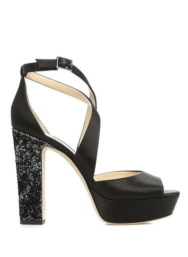 Jimmy Choo Platform Topuklu Sandalet Siyah